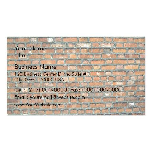 Vieil arrière - plan de mur de briques de tache pa cartes de visite personnelles