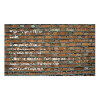Vieil arrière - plan de mur de briques de tache pa carte de visite standard