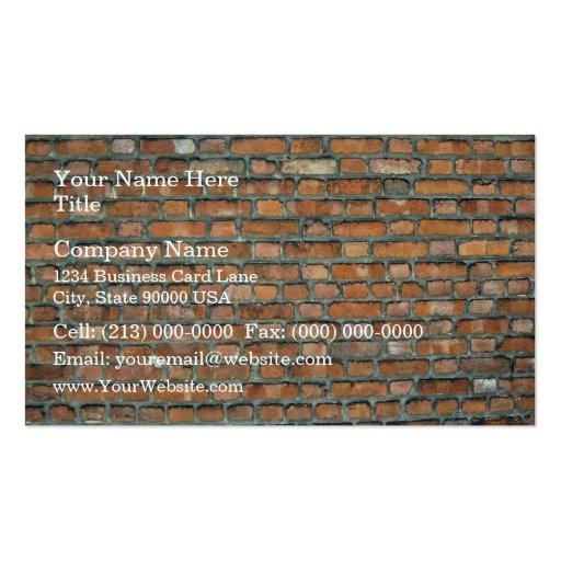 Vieil arrière - plan de mur de briques de tache pa modèle de carte de visite