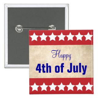 Vieil arrière - plan de papier heureux 4 juillet badges