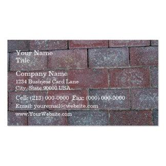 Vieil arrière - plan de trottoir de brique cartes de visite professionnelles