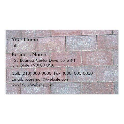 Vieil arrière - plan de trottoir de brique cartes de visite personnelles
