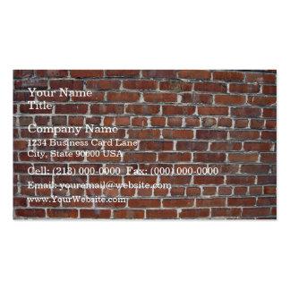 Vieil arrière - plan endommagé de mur de briques modèle de carte de visite