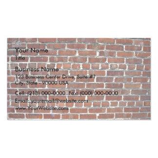 Vieil arrière - plan endommagé de mur de briques carte de visite standard