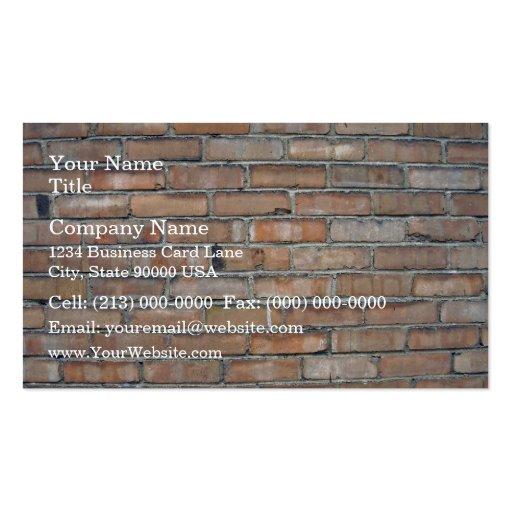 Vieil arrière - plan grunge de mur de briques cartes de visite professionnelles