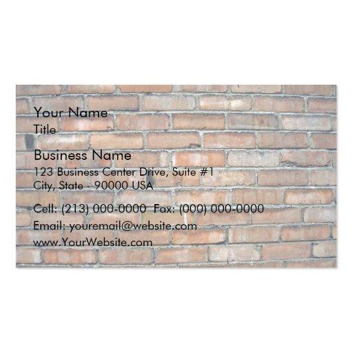 Vieil arrière - plan grunge de mur de briques modèle de carte de visite