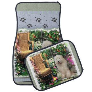 Vieil art anglais de chien de berger tapis de voiture