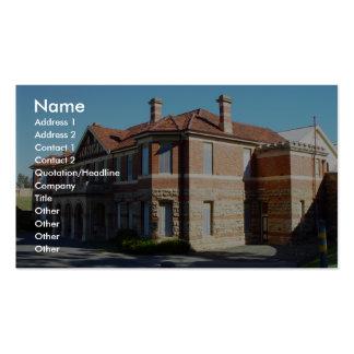 Vieil asile mental au bâti Claremont en Au occiden Carte De Visite Standard