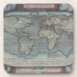 Vieil atlas dessous-de-verre