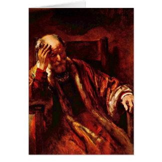 Vieil homme dans le fauteuil par Rembrandt Van Cartes