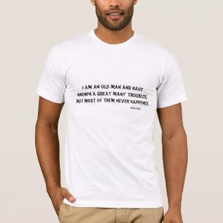 Vieil homme et T-shirt humoristique de problèmes