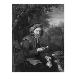Vieil homme tenant un tuyau et une cruche par Gabr Carte Postale