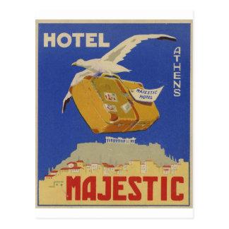 Vieil hôtel d'Athènes Grèce d'annonce majestueux Carte Postale