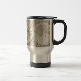 Vieille, antique carte du monde mug de voyage en acier inoxydable