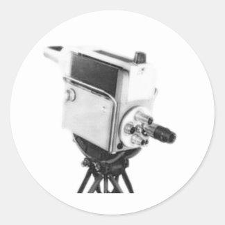Vieille caméra de télévision TK d'émission Autocollants Ronds