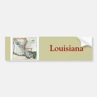 Vieille carte 1814 de la Louisiane Autocollant De Voiture