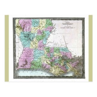 Vieille carte 1848 de la Louisiane