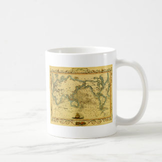 Vieille carte antique du monde mug