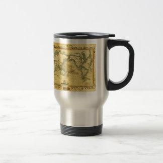 Vieille carte antique du monde mugs à café