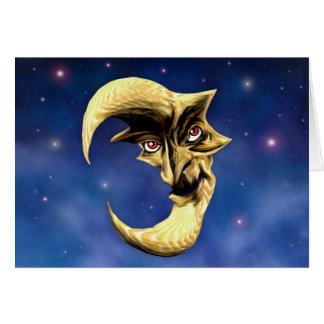 Vieille carte de lune de diable