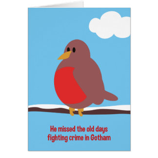 Vieille carte de Noël de Robin de jours