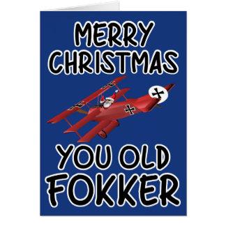 Vieille carte de Noël drôle