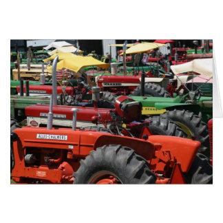 Vieille carte de note de tracteur : Un bon nombre