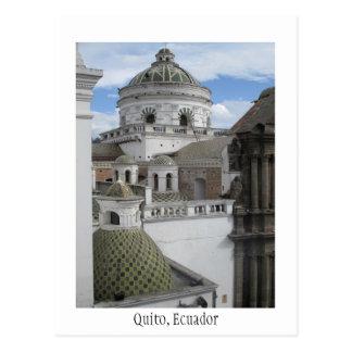 Vieille carte de Quito Equateur de ville Carte Postale