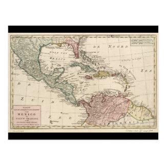 Vieille carte des Antilles les Caraïbe (1765)