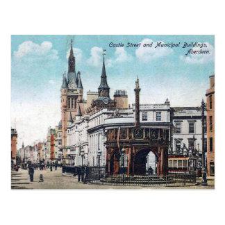 Vieille carte postale - Aberdeen, Ecosse