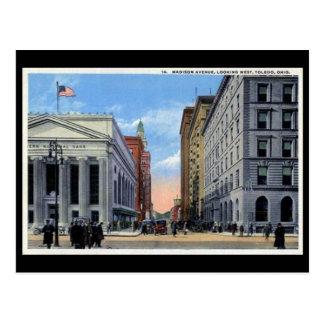 Vieille carte postale - avenue de Madison, Toledo,