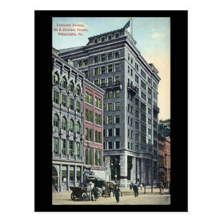 Vieille carte postale - bâtiment de Lafayette, PA