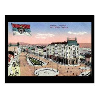 Vieille carte postale, Belgrade, Terazije