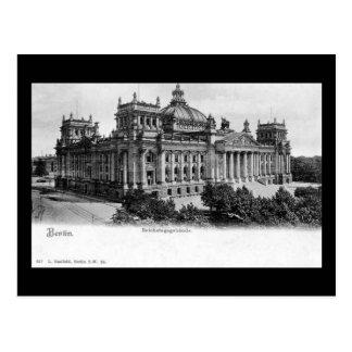 Vieille carte postale, Berlin, Reichstag
