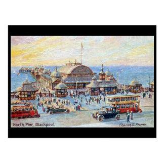Vieille carte postale - Blackpool, pilier du nord