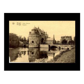 Vieille carte postale, Bruges