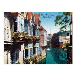 Vieille carte postale - Cantorbéry, les tisserands