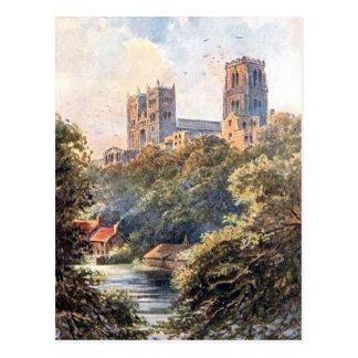 Vieille carte postale - cathédrale de Durham