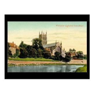 Vieille carte postale - cathédrale de Worcester