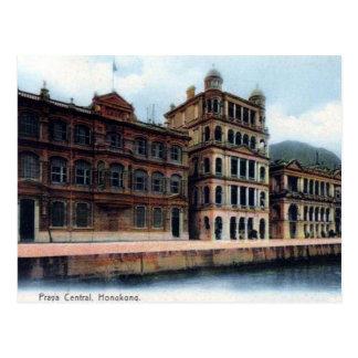 Vieille carte postale - central de Praya, Hong