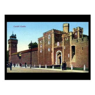 Vieille carte postale, château de Cardiff