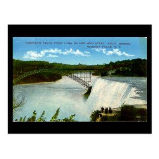Vieille carte postale - chutes du Niagara
