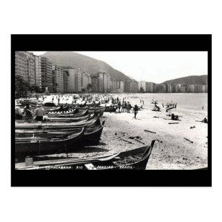 Vieille carte postale - Copacabana, Rio de Janeiro