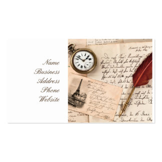 Vieille carte postale de papier vintage de timbre carte de visite standard