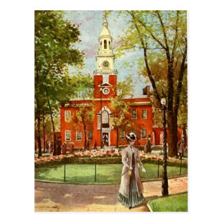 Vieille carte postale de ville de Philadelphie