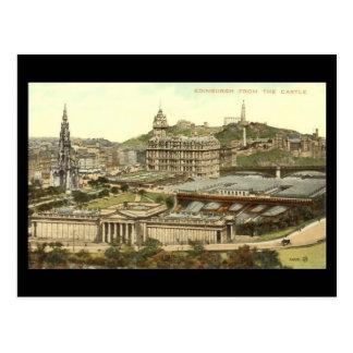 Vieille carte postale, Edimbourg du château