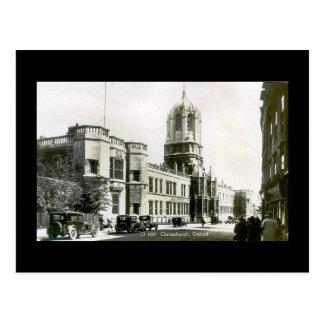 Vieille carte postale, église du Christ, Oxford