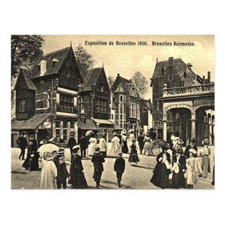 Vieille carte postale - expo 1910 de Bruxelles