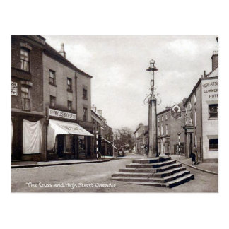 Vieille carte postale - grand-rue, Cheadle