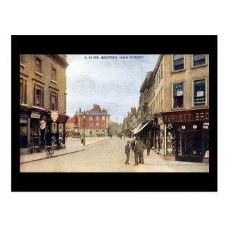 Vieille carte postale, grand-rue de Bedford